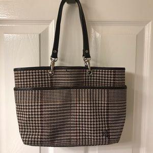 Ralph Lauren Classic Hoodstooth Handbag Purse